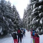 start biegu narciarskiego wokół Mogielicy 24.01.2013