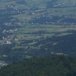 widok z Mogielicy na Słopnice Dolne
